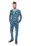 Blue Tartan Scottish Stag Suit - Stag Suits