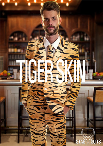 Tiger Animal Print Stag Suit