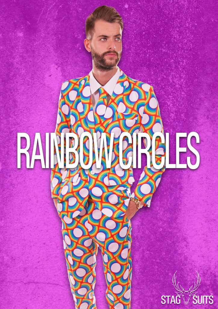 Rainbow Circles Stag Suit - Stag Suits