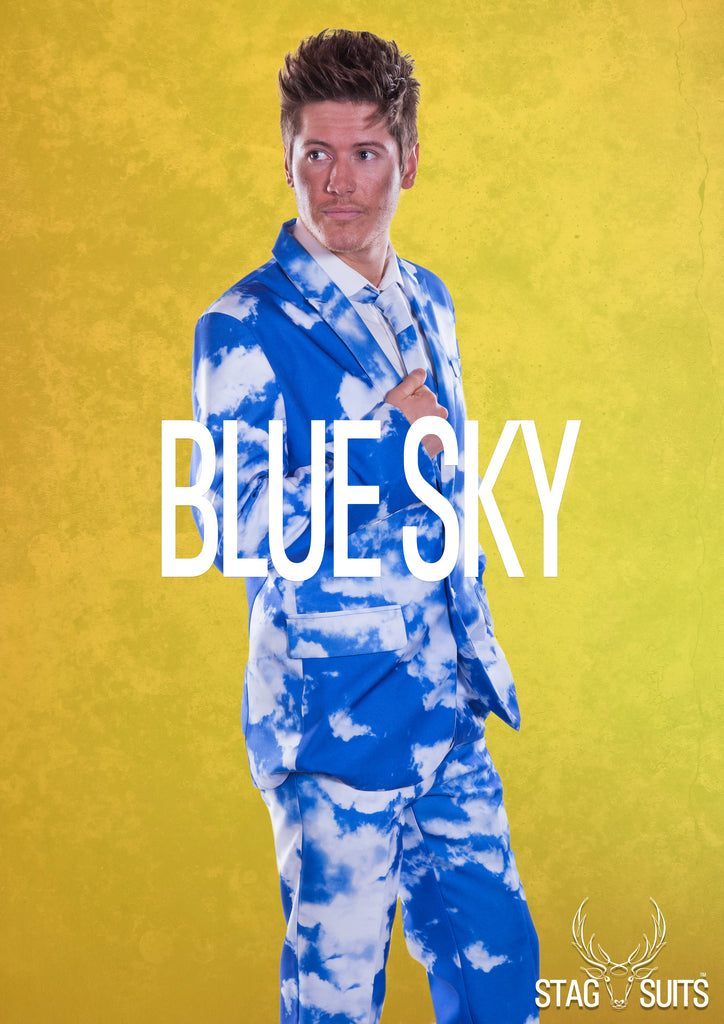 Blue Sky Clouds Stag Suit - Stag Suits