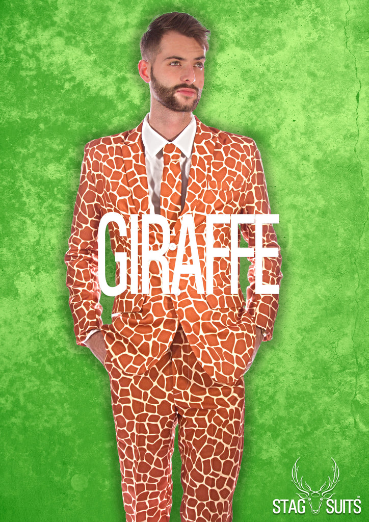 Giraffe Animal Print Stag Suit - Stag Suits