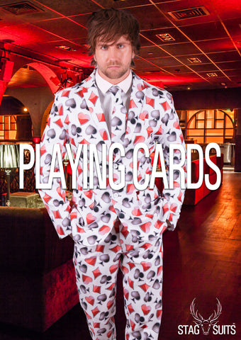 White Playing Card Stag Suit