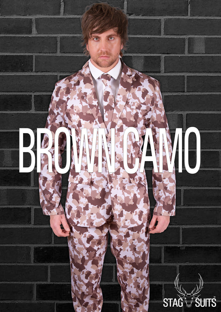 Camouflage Brown Army Stag Suit - Stag Suits