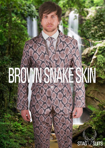 Brown Snake Skin Stag Suit