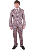 Brown Snake Skin Stag Suit - Stag Suits