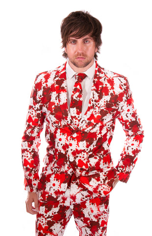 Blood Stained Halloween Print Stag Suit