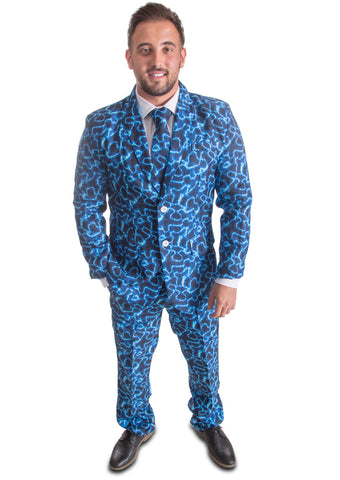 Electric Blue Stag Suit