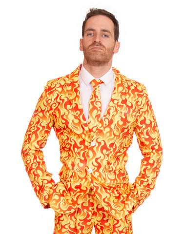 Red Hot Fire Halloween Stag Suit
