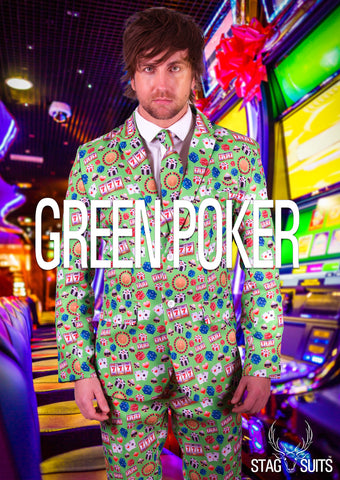 Green Poker Casino Stag Suit