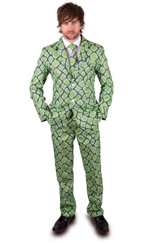 Green Snake Skin Stag Suit