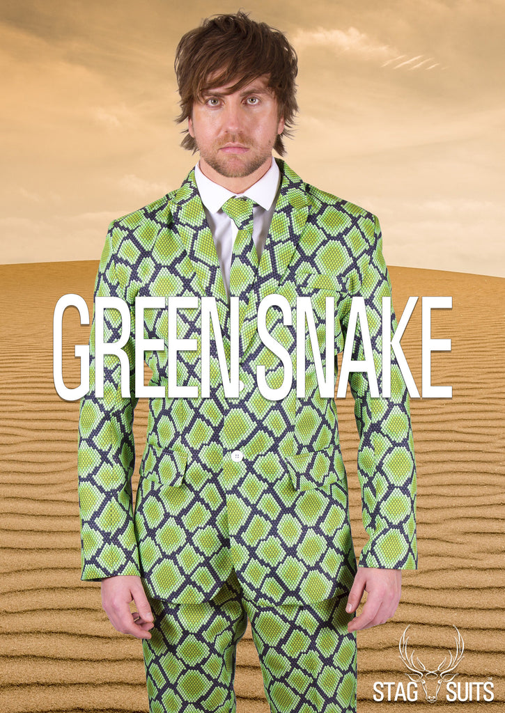 Green Snake Skin Stag Suit - Stag Suits