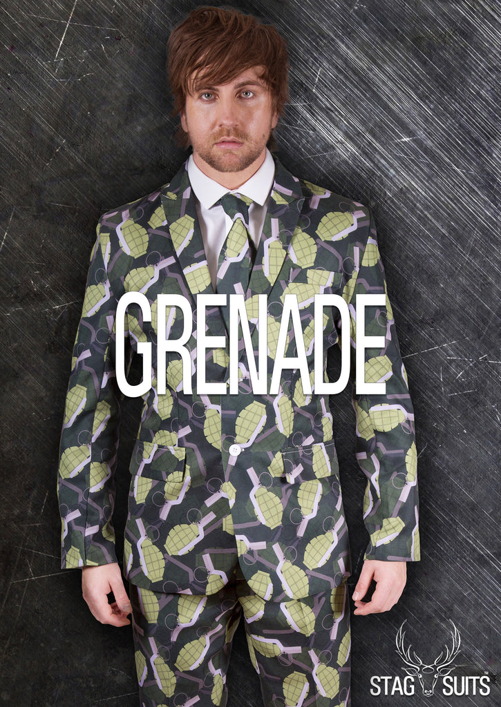 Grenade Green Stag Suit - Stag Suits
