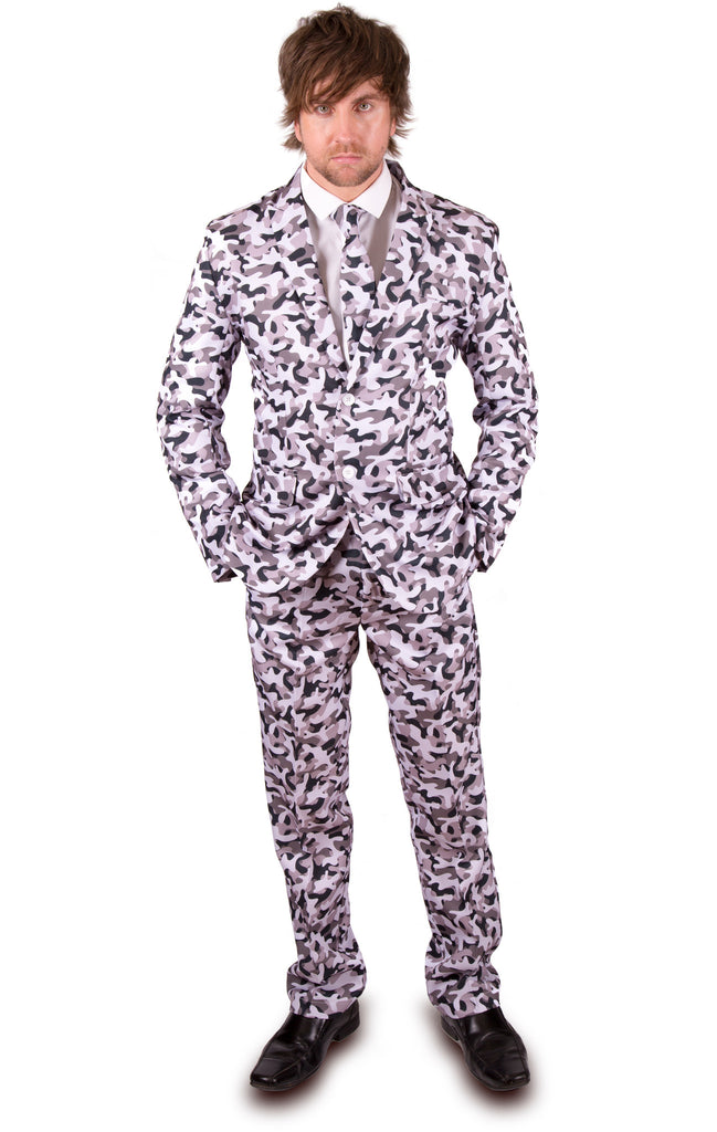 Grey Urban Camouflage Army Stag Suit - Stag Suits