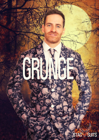 Grunge Halloween Print Stag Suit