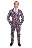 Grunge Halloween Print Stag Suit - Stag Suits