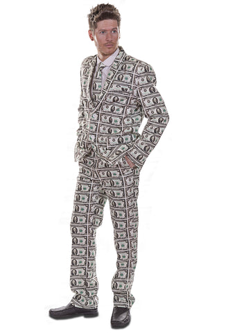 $100 Dollar Money Stag Suit