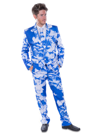Blue Sky Clouds Stag Suit