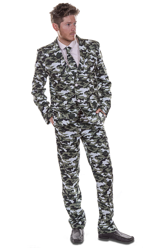 Camouflage Green Army Stag Suit - Stag Suits