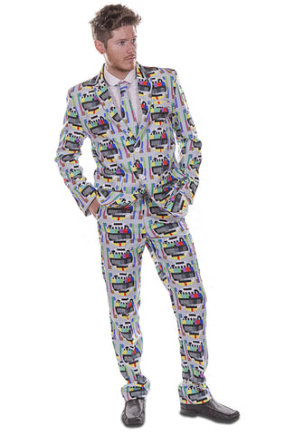 TV Retro Test Card Screen Stag Suit