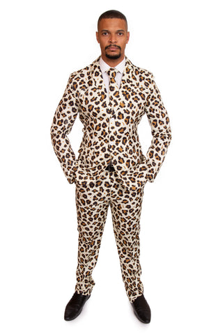 Cheetah Animal Print Stag Suit