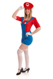 Ladies Red Super Plumber Costume - Stag Suits