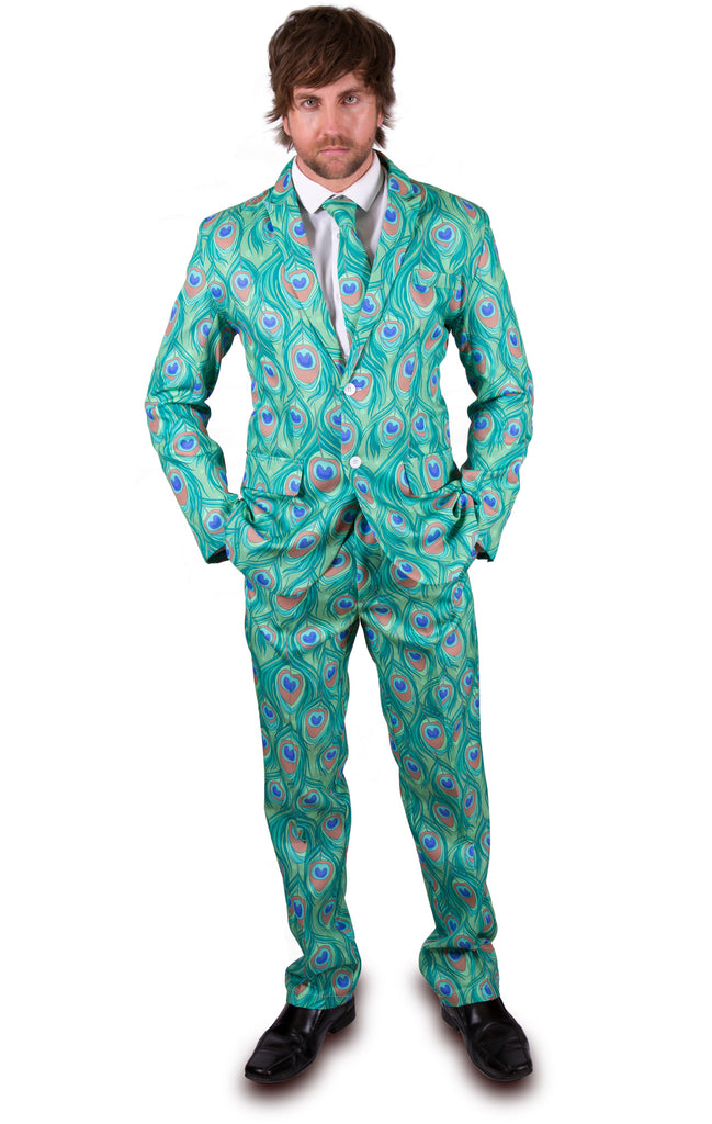 Peacock Print Stag Suit - Stag Suits