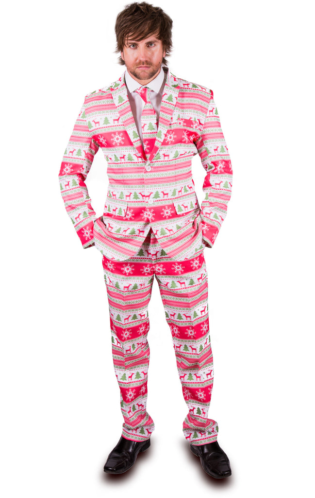 Pink Reindeer Christmas Stag Suit - Stag Suits
