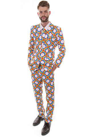 Rainbow Circles Stag Suit