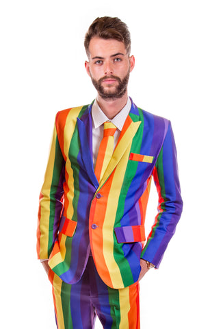 Rainbow Striped Stag Suit