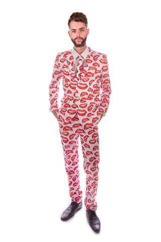 Red Lips Stag Suit
