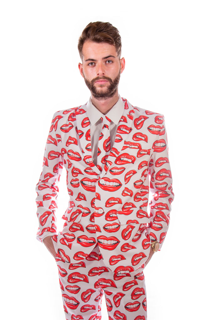 Red Lips Stag Suit - Stag Suits