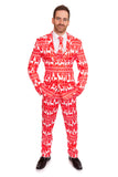Red Reindeer Christmas Stag Suit - Stag Suits