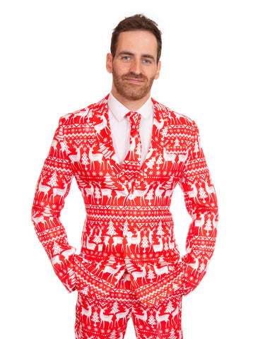Red Reindeer Christmas Stag Suit