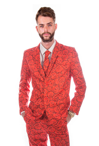 Red Roses Stag Suit