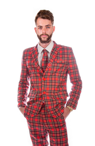 Blue Tartan Scottish Stag Suit