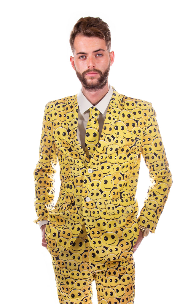 Smiley Face 90s Retro Stag Suit - Stag Suits