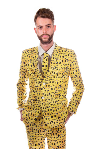 Skeleton Skull Halloween Print Stag Suit