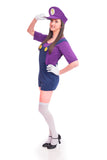 Ladies Bad Purple Super Plumber Costume - Stag Suits