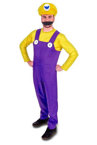 Super Plumber Yellow Bad Brothers Adult Fancy Dress Costume