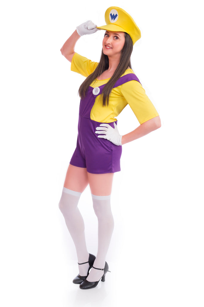 Ladies Bad Yellow Super Plumber Costume - Stag Suits