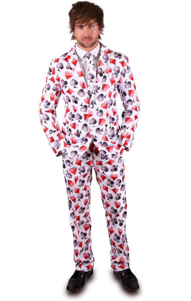 White Playing Card Stag Suit - Stag Suits