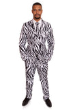 Zebra Animal Print Stag Suit - Stag Suits