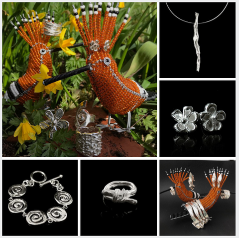 Easter with Hoopoe modelling Sue Chadwick silver jewellery