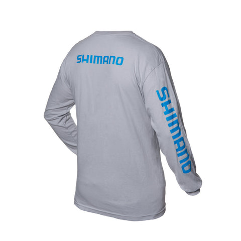 Shimano - Long Sleeve Cotton T-shirt - Grey