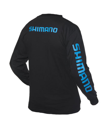 Shimano tshirt black fishing apparel canada