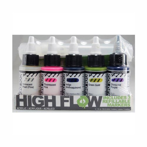 Golden High Flow Acrylic Ink And Marker Set