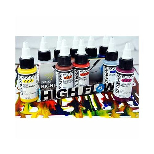 Golden High Flow Acrylic, Assorted 10 Color Set