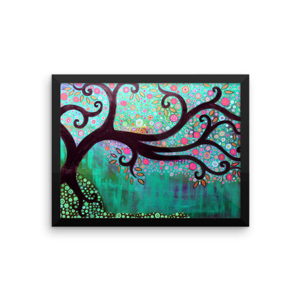 Tree On The Hill Framed Art