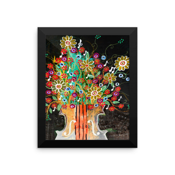 Symphony Bouquet Framed Art