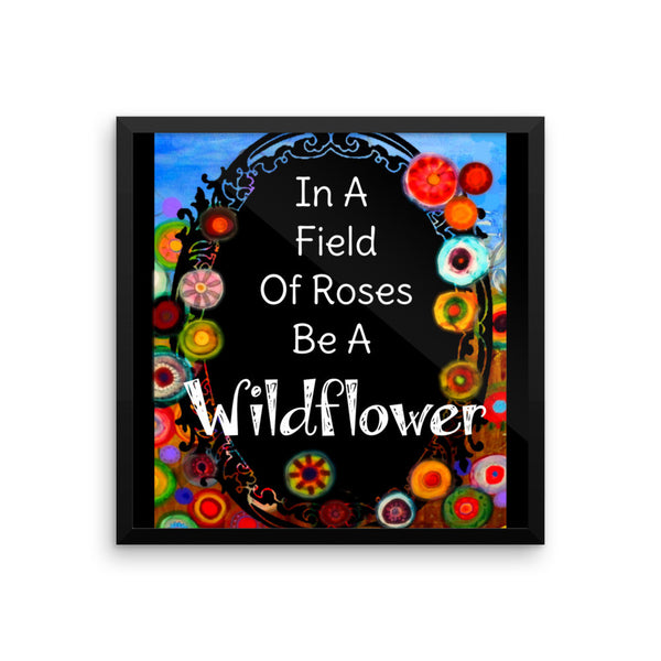 Wildflower Framed poster